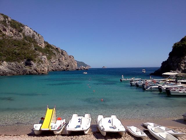 lodičky na Korfu