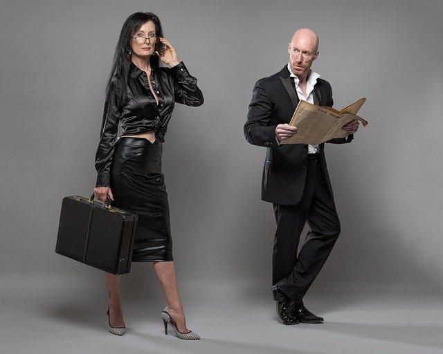 uchazeči o práci, muž a žena