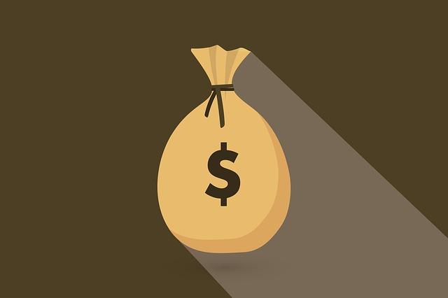 pytel peněz – ilustrace